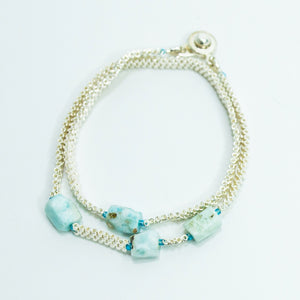 Larimar Cascade Bracelet or Necklace