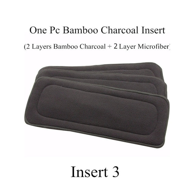 [simfamily]5PCS Reusable Bamboo Charcoal Insert 4layer Baby Cloth Diaper Mat Nappy Inserts Changing Liners each insert Wholesale