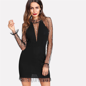 Mesh Pearl Dress