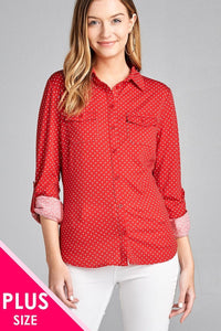 Dotted Shirt w/ Pocket
