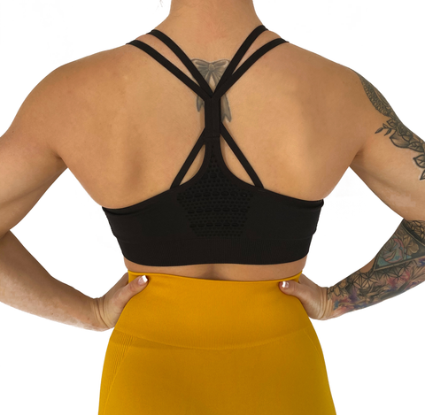 Black Advance Sports Bra