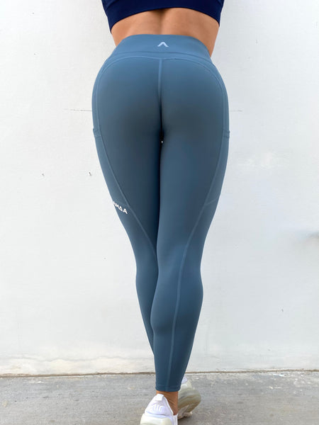 Hybrid Leggings - Air Force Blue