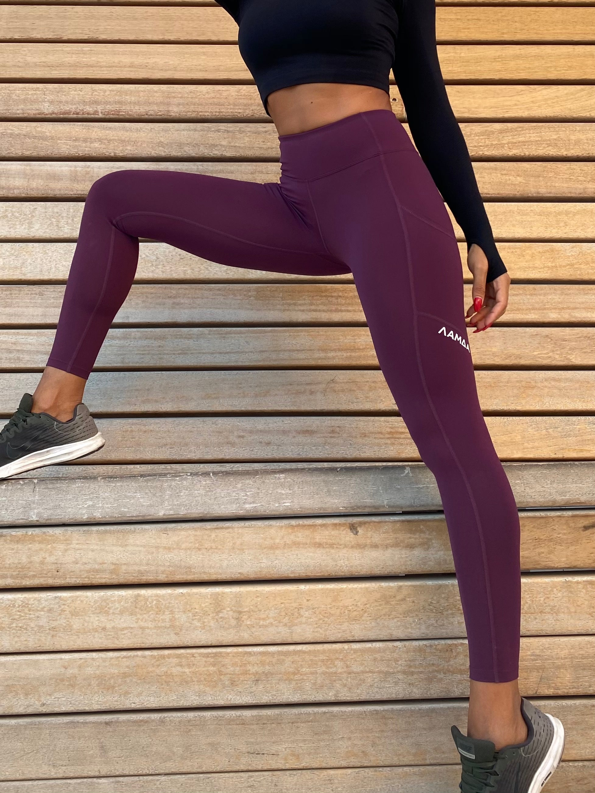 Hybrid Leggings - Blackberry