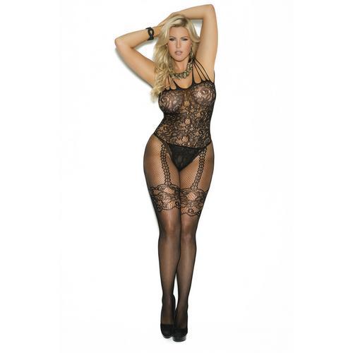 FISHNET & LACE BODYSTOCKING