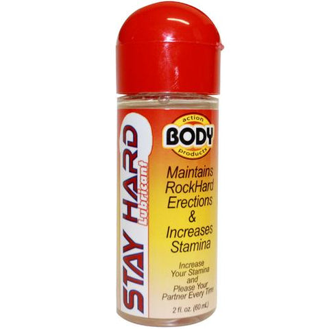 Body Action Stayhard Male Lube 2.3oz.