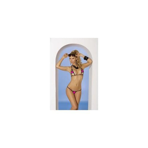 2-piece Swimwear Set - Neon  Pink - One Size