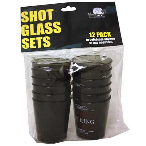 Happy Fucking Birthday Shot Glass Set - Pack of 12