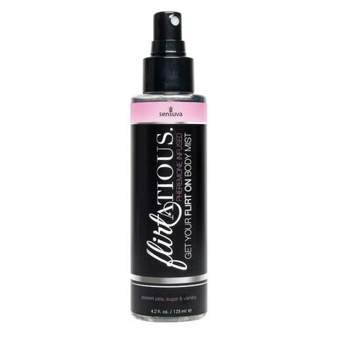 Flirtatious Pheromone Infused Body Mist - Vanilla, Sugar, & Sweet Pea - 4.2 fl.oz / 125 ml