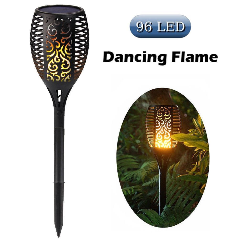 Hot Selling!!!LED Solar Path Torch Light Dancing Flame