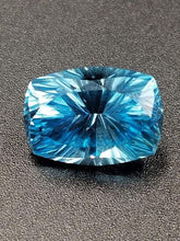 Load image into Gallery viewer, Blue Topaz 10.59ct Cushion Concave Fan Brilliant Cut by Mark Gronlund.