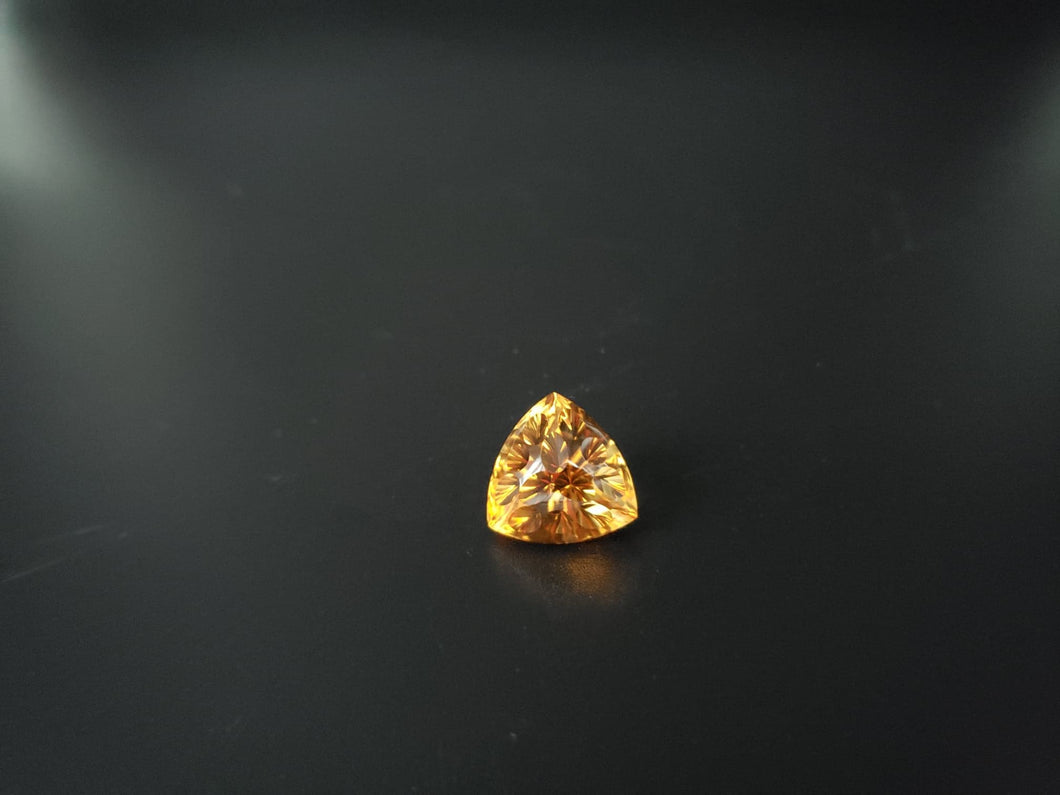 Citrine 15.36ct Trillon custom cut by Mark Gronlund.