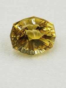 Yellow Beryl 2.50ct Fancy Cushion Concave Starburst Cut By Mark Gronlund!
