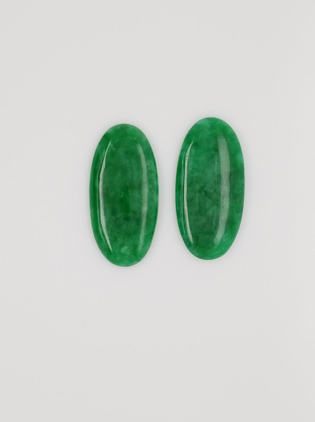 Burmese Jadeite Matching Cabochons Ovals total weight 31.46cts