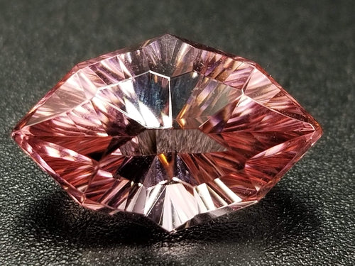 4.45ct Marquise/Concave Starburst Cut Nigerian Pink Tourmaline Cut by Mark Gronlund!