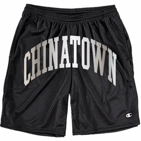 Chinatown Market Shooter shorts x Champion - nowa.