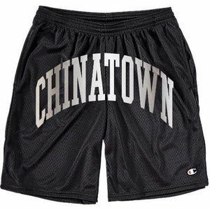 Chinatown Market Shooter shorts x Champion