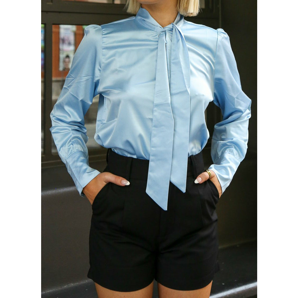 Satin Bow Blouse