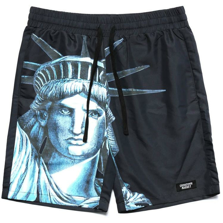 NYC Nylon Shorts - Black - nowa.