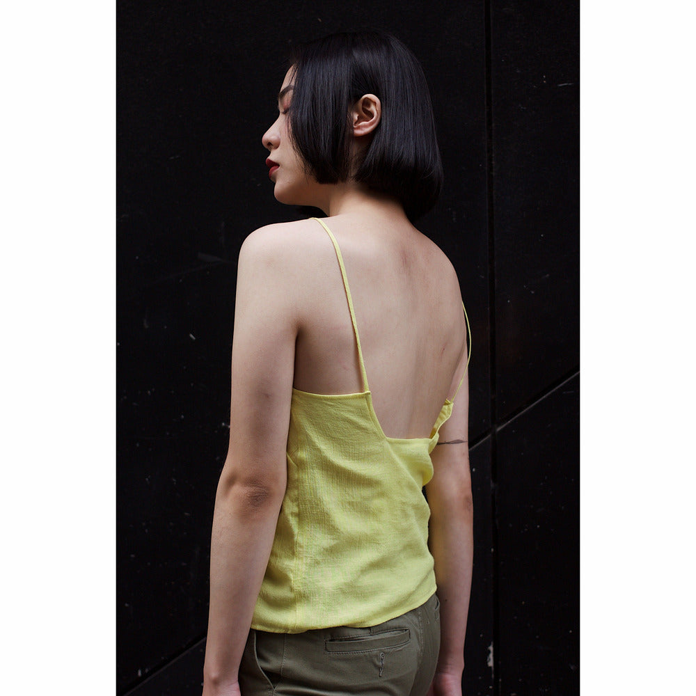 Silk/Linen Camisole - Yellow - nowa the label