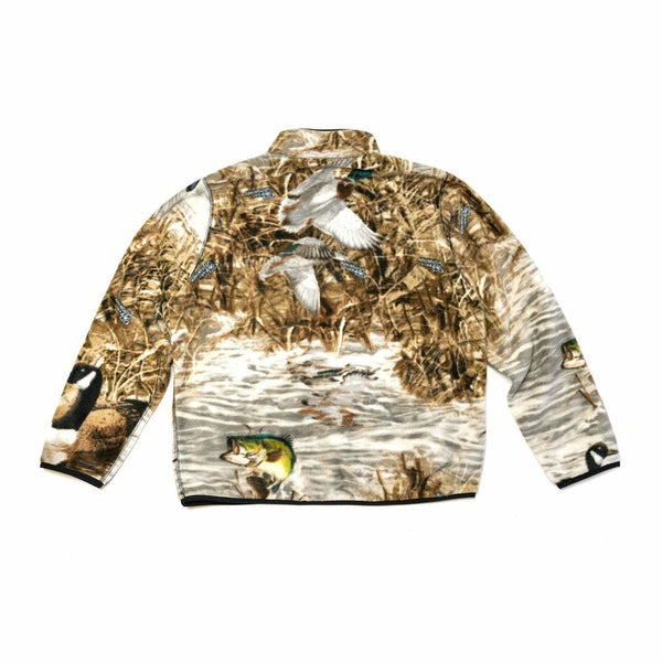 Ducks & Fish Polar Fleece 1/2 Zip