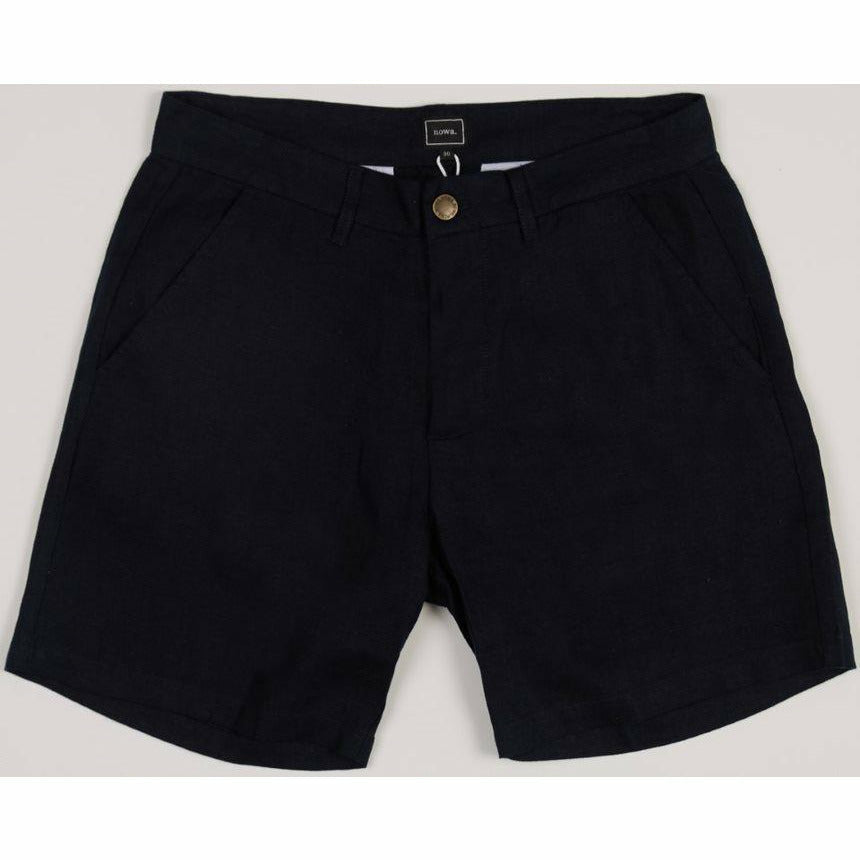 Holiday Linen Shorts - Navy - nowa.