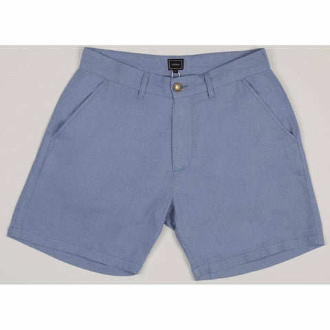 Holiday Linen Shorts -Soft Blue