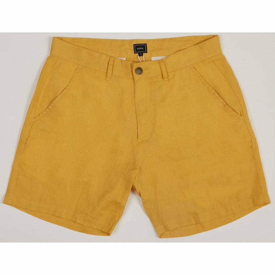 Holiday Linen Shorts - Yellow - nowa the label