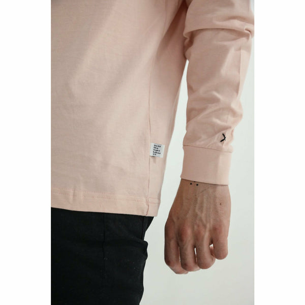 Stockholm Long Sleeve Tee Shirt - Peach
