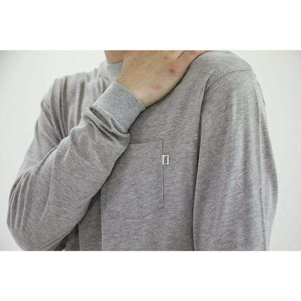 Stockholm Long Sleeve Pocket Tee -  Grey Marl