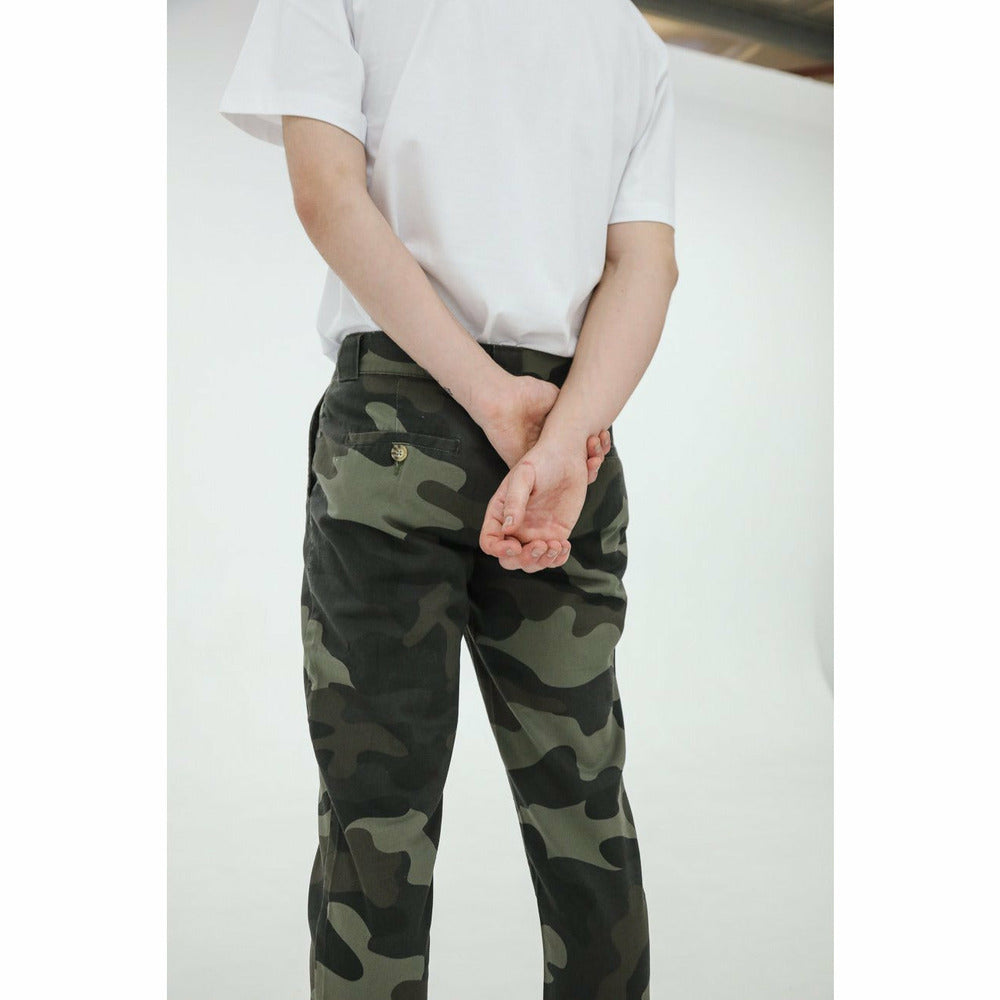 Yuri Chino Trouser - Camo - nowa the label