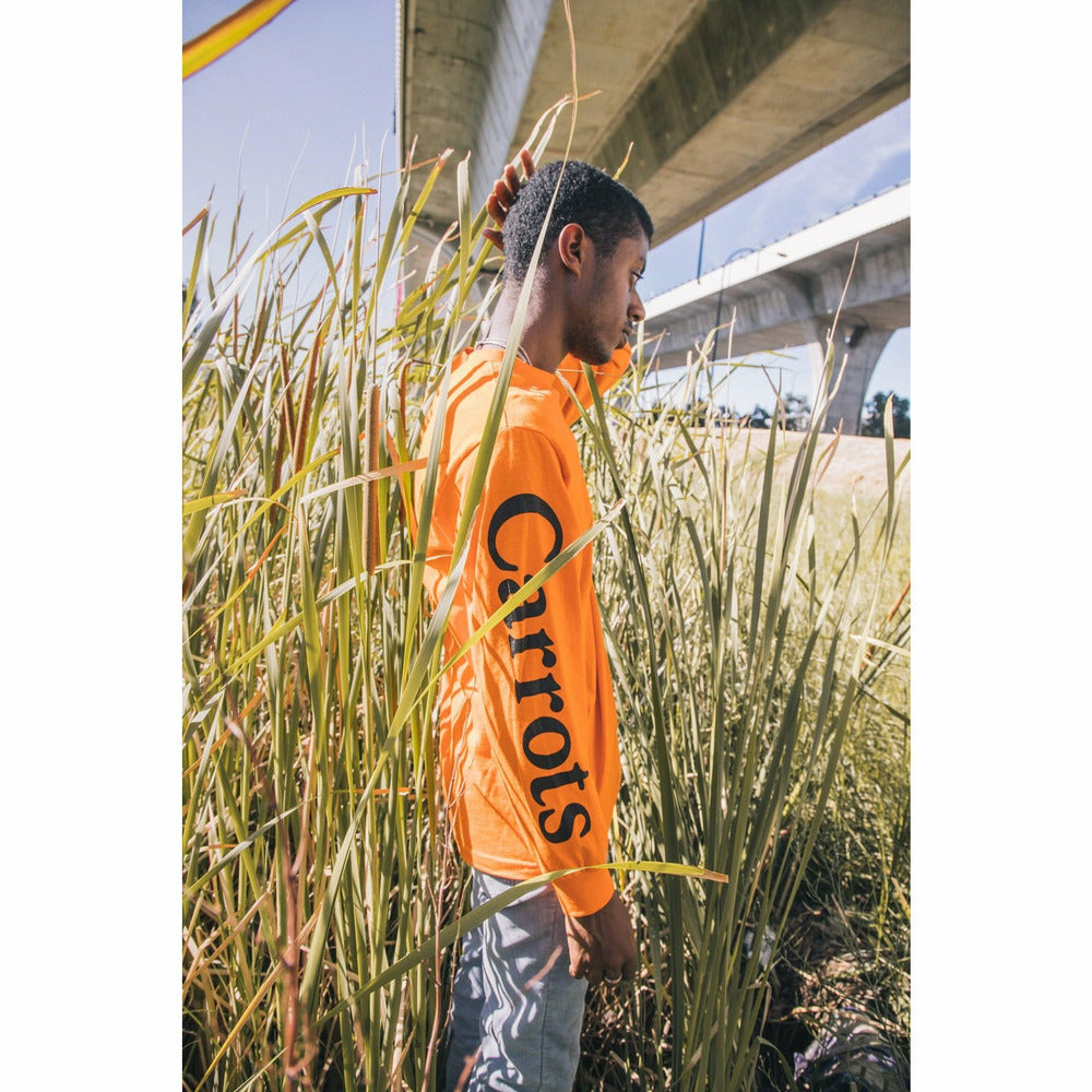 Signature Long-sleeve Tee - Orange - nowa.
