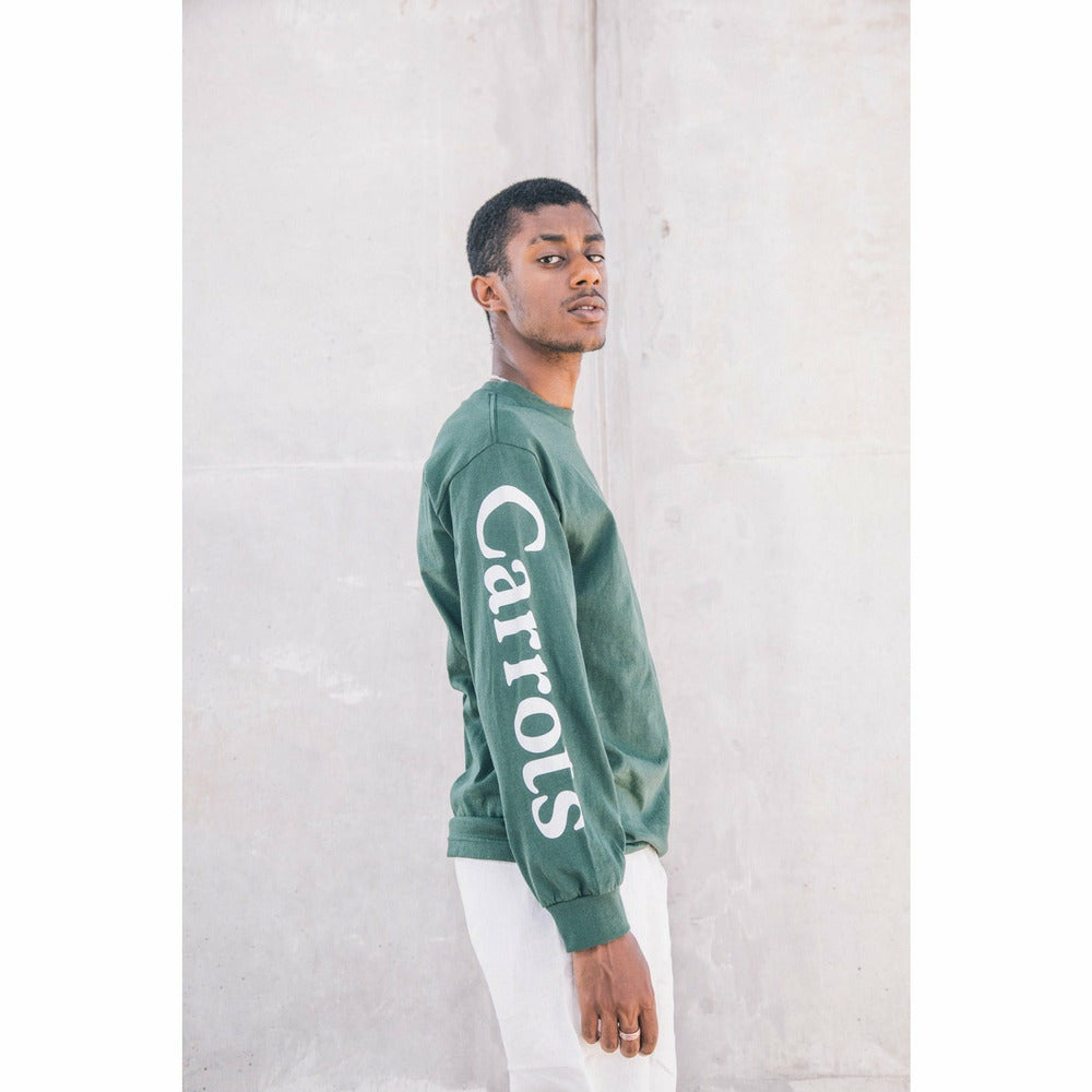 Signature Long Sleeve Tee - Green - nowa.
