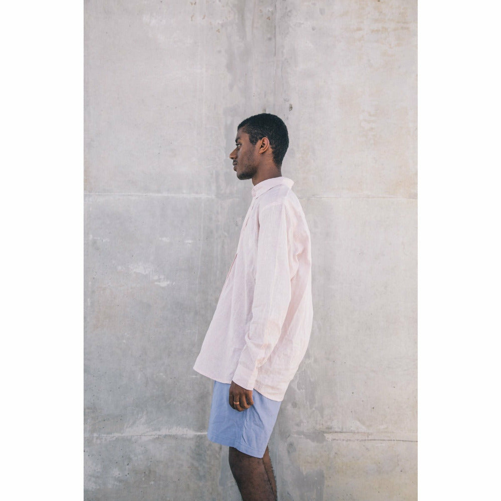 Holiday Linen Shirt - Pink - nowa.