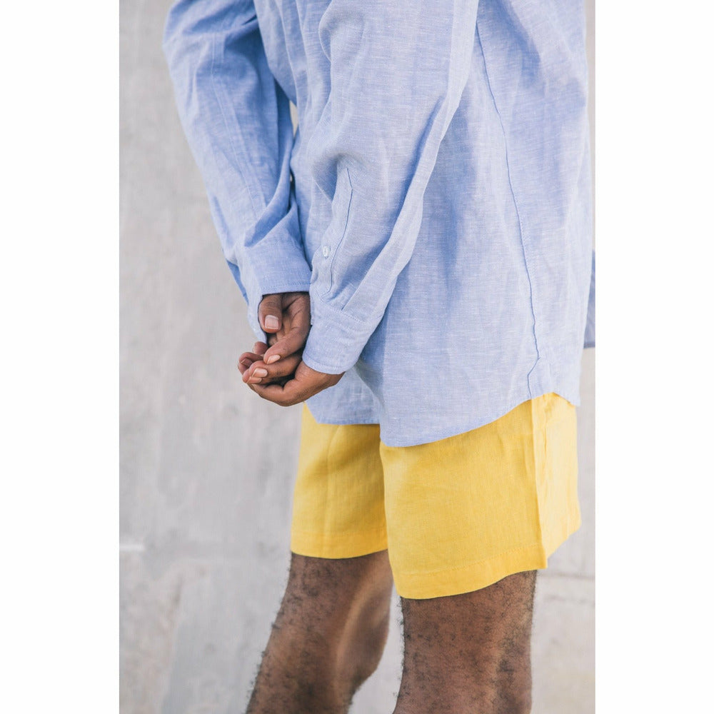 Holiday Linen Shorts - Yellow - nowa.