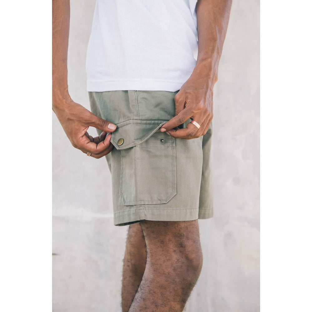 Hudson Stomper Cargo Shorts - Olive Green - nowa the label