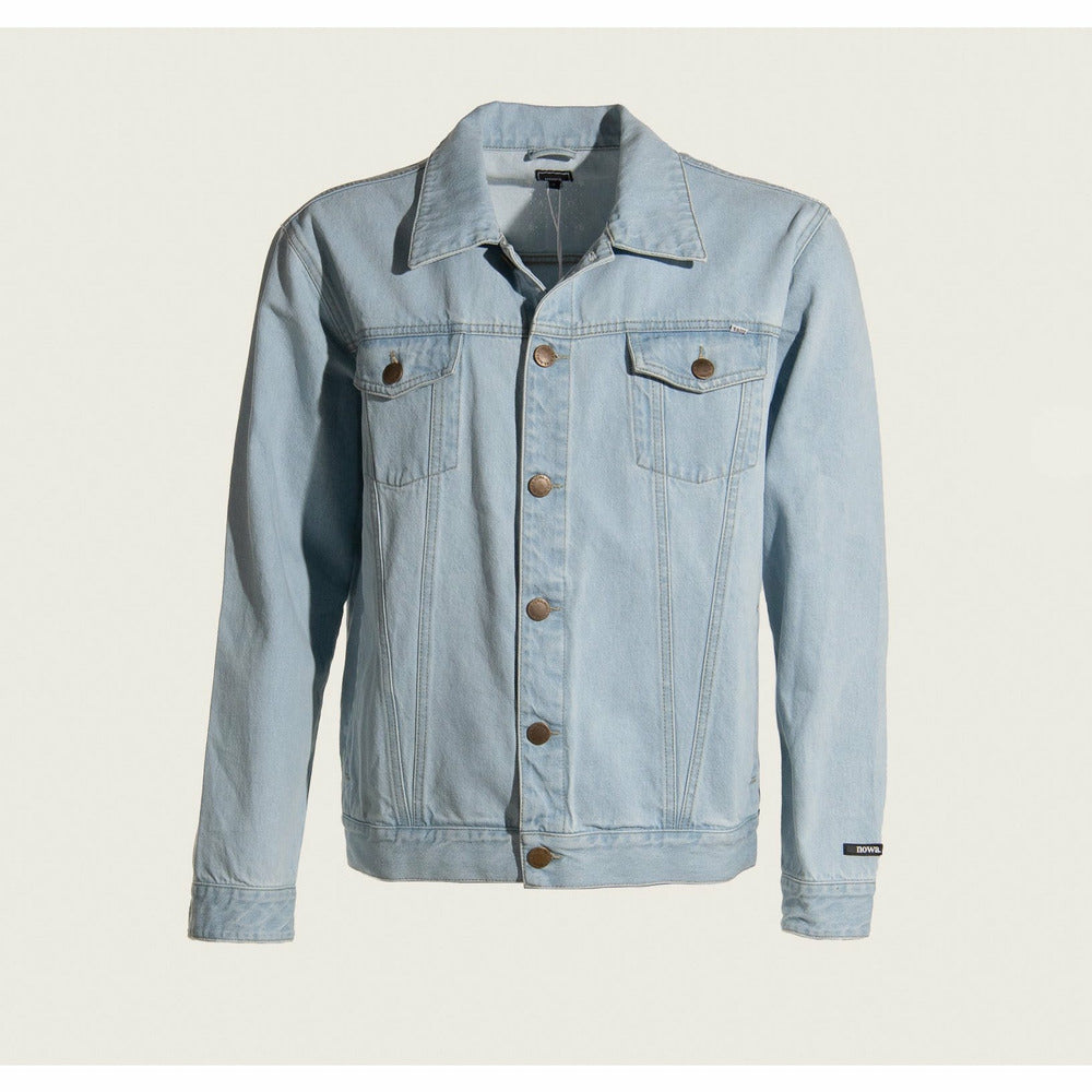 Mens Trucker Jacket in light blue