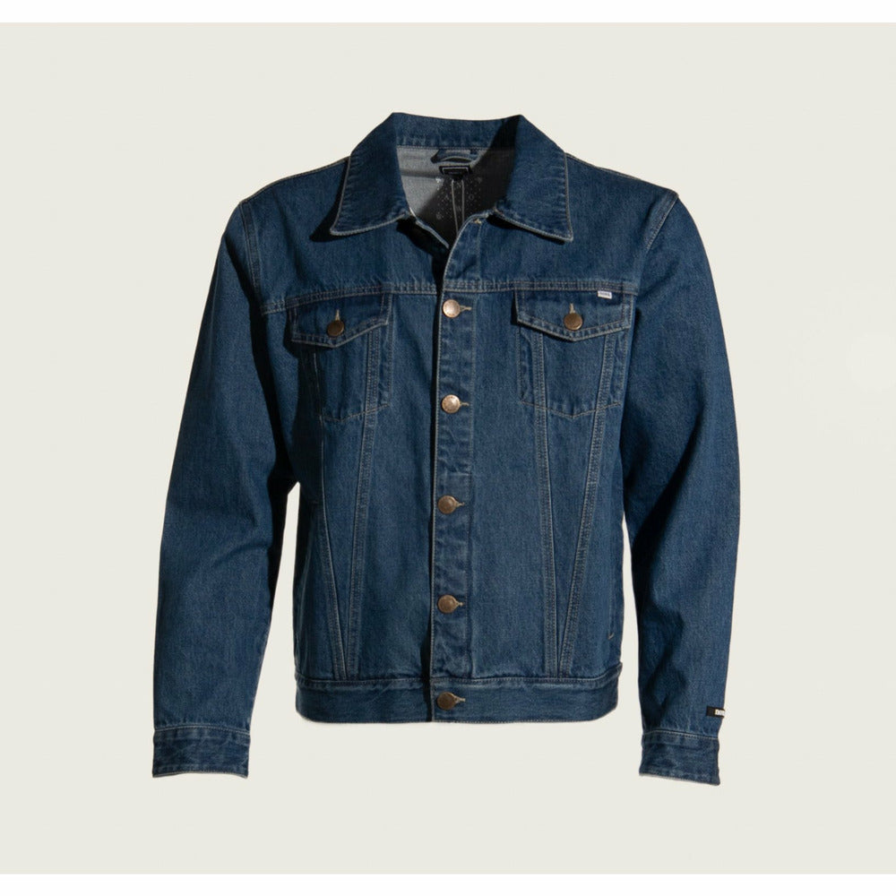 Mens Trucker Jacket in dark blue