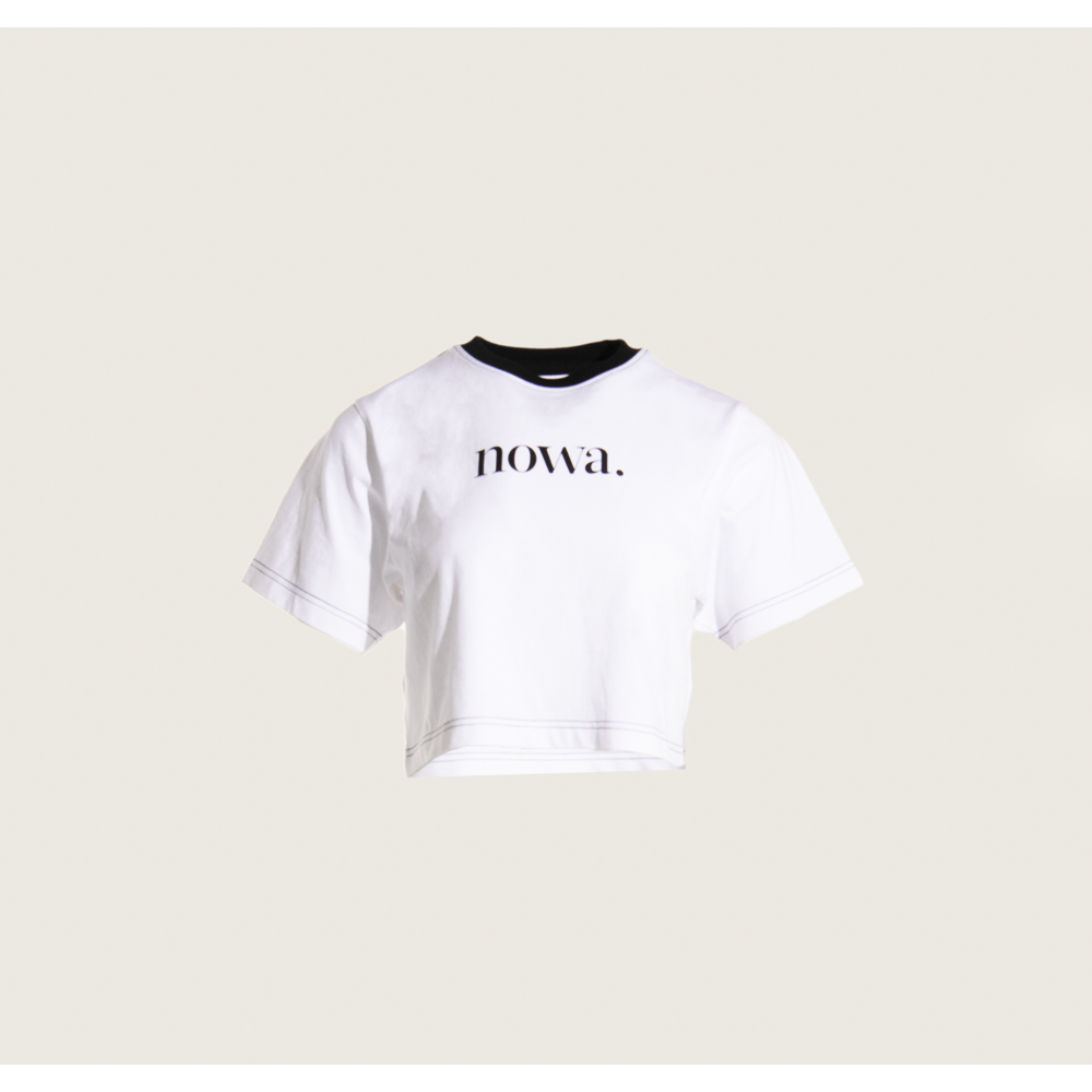 Cropped Staten T-shirt with Contrasting Stitching