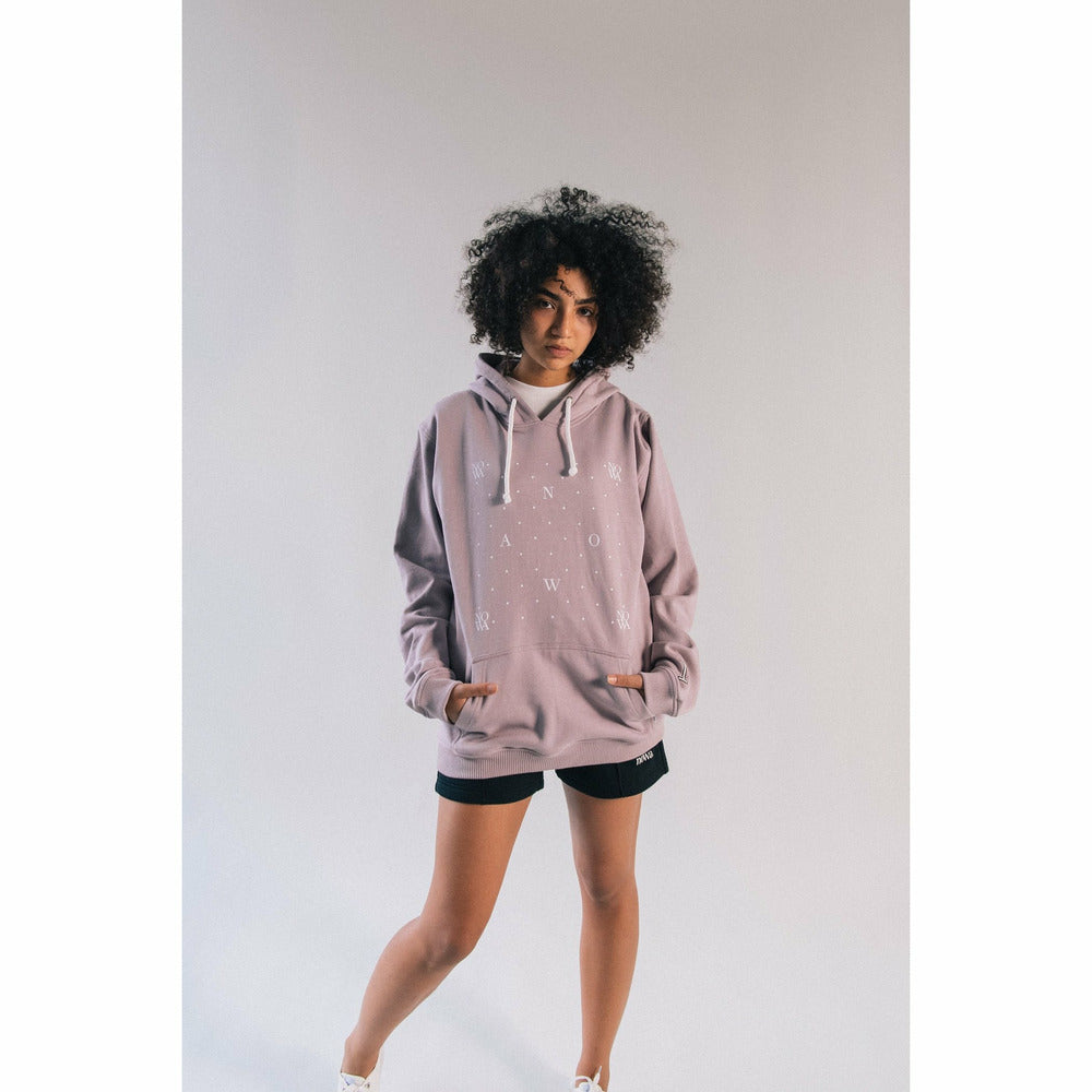 Monogram Hoodie in Elderberry