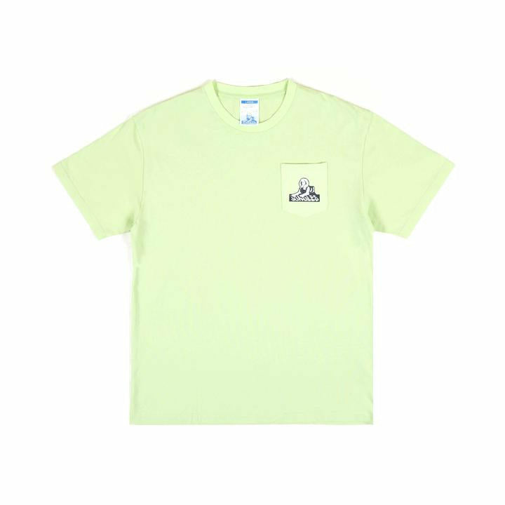 Sphinx Pocket Logo Tee - Lime - nowa.