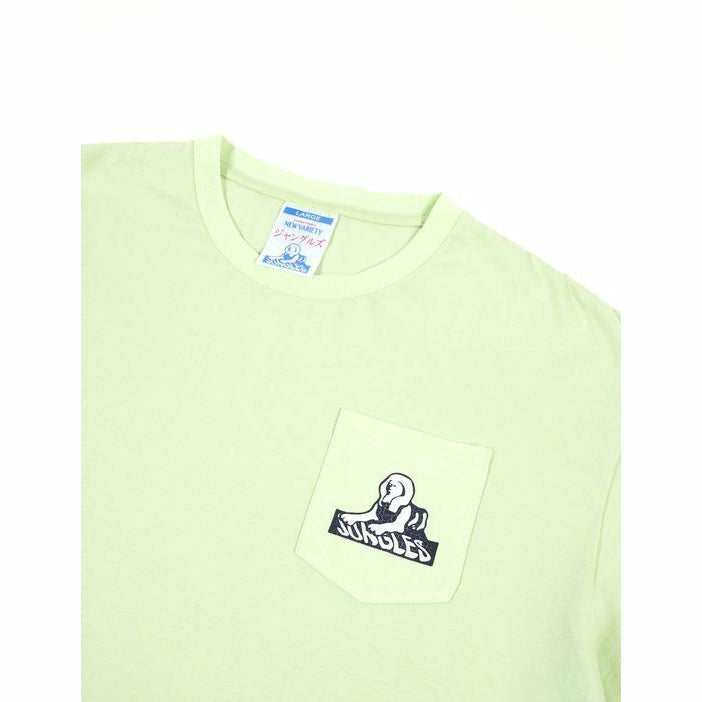 Sphinx Pocket Logo Tee - Lime - nowa the label