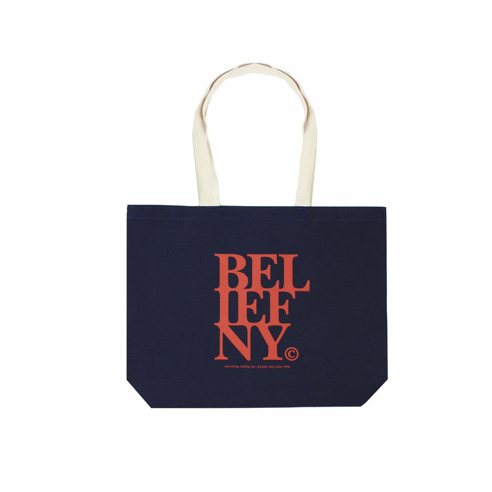 Stacked Tote Bag - Navy