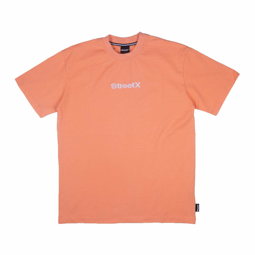 Wordmark Embroidery Tee - Peach