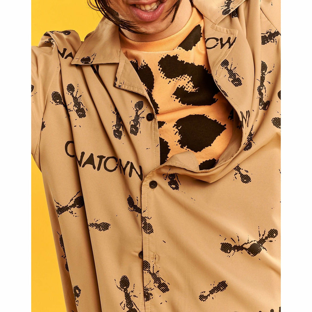 Brown Ants Button Up Shirt - nowa.