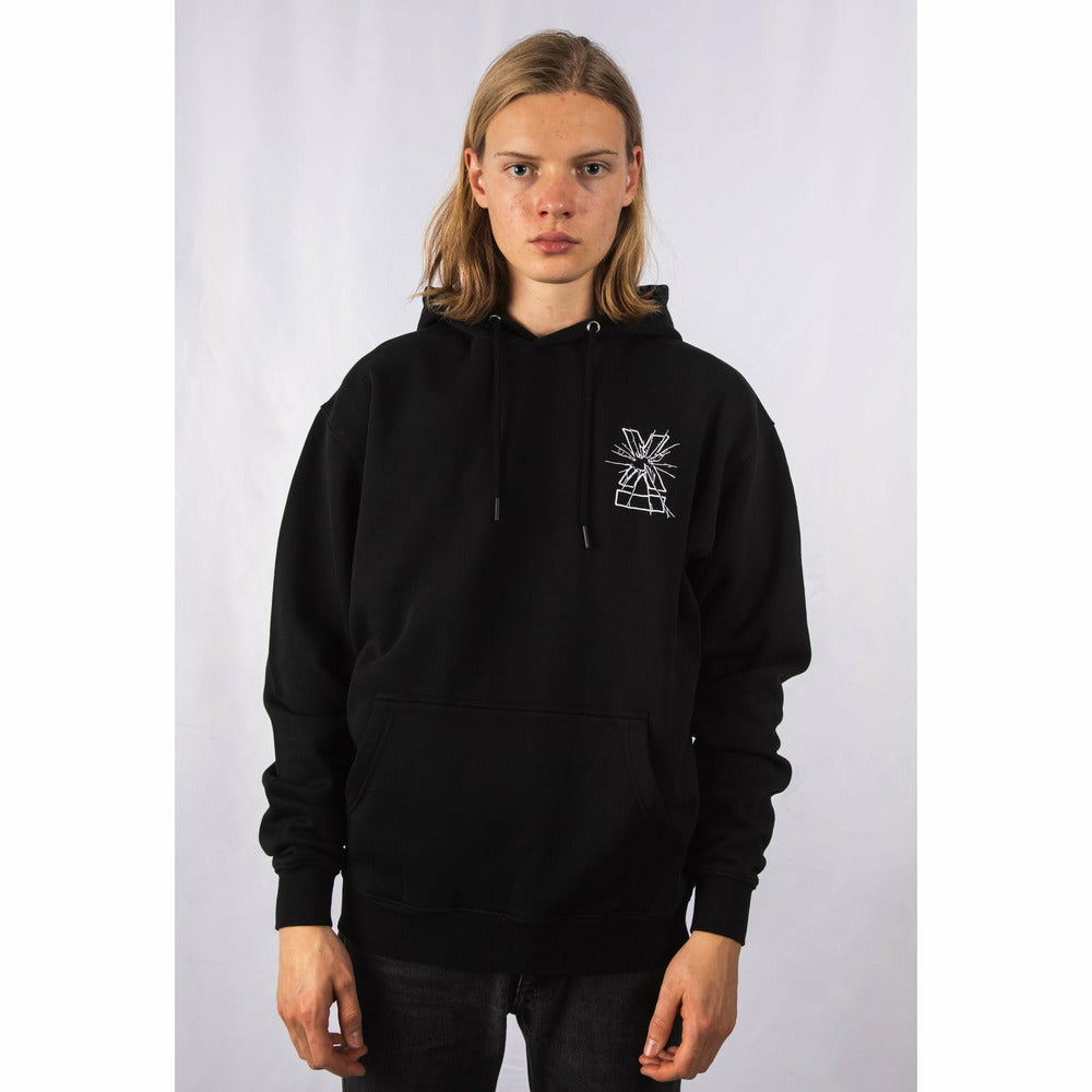Smash X Fleece Hoodie - Black