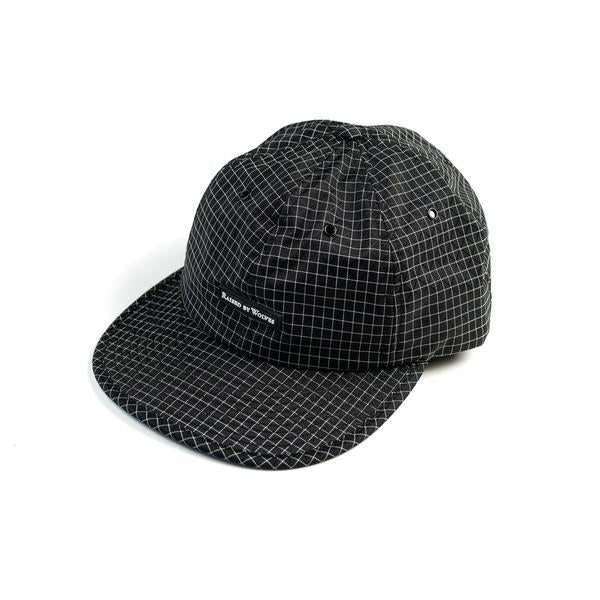 GRIDSTOP 6 PANEL CAP - BLACK - nowa.