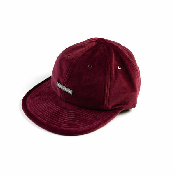 VELVET 6 PANEL CAP - WINE - nowa.