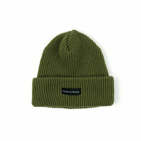 Waffle Knit Watch Cap - Olive