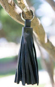 Leather Tassel Keychain