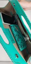 Turquoise Dragonfly Clutch & Matching Wallet